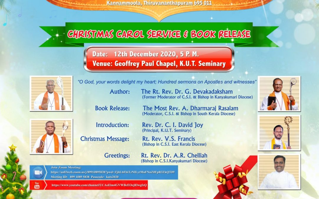 Christmas Carol Service and Book Release Function